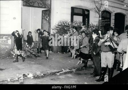 1956 - The Argentine Political situation: Buenos Aires Argentina, August 26th; after the Spectacular death of the - Stock Photo