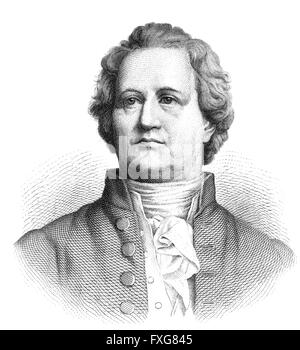 Johann Wolfgang von Goethe, 1749 - 1832, Johann Wolfgang von Goethe, 1749 - 1832 - Stock Photo