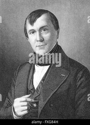 Émile de Girardin, 1802-1881, a French journalist, publicist, and politician, - Stock Photo