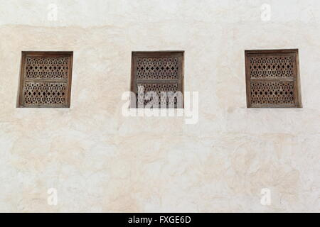 traditional arabic windows - Stock Photo