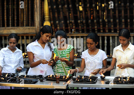 Sri Lanka Colombo, Isipathanaramaya buddhist temple / buddhistischer Tempel Isipathanaramaya - Stock Photo