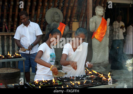 Sri Lanka Colombo, Isipathanaramaya buddhist temple / buddhistischer Tempel Isipathanaramaya - Stock Photo