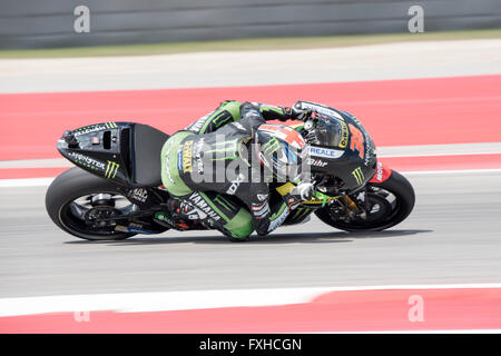 Bradley Smith of Monster Yamaha Tech 3 seen during the 2016 Red Bull Grand Prix of the Americas at Circuit of the - Stock Photo