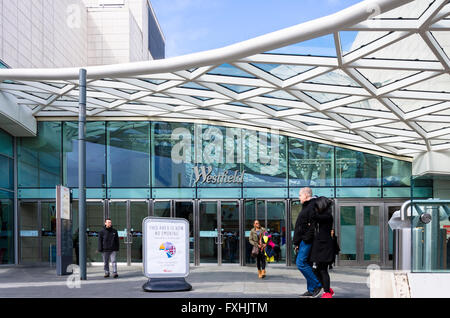 One of the entrances to the Westfield Shopping Centre in Shepherds Bush, London. - Stock Photo
