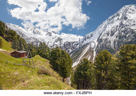 Alp in Riva di Tures, Campo Tures, South Tyrol, Italy - Stock Photo