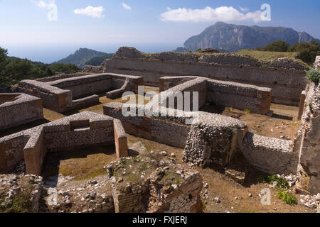 A view of the thermal area at the Villa Jovis, Capris - Stock Photo