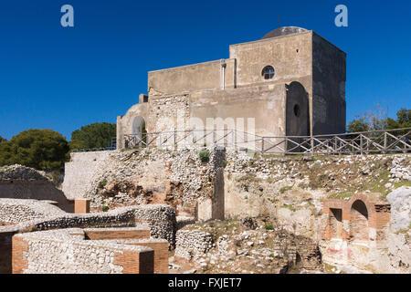 Chiesa (Church) di Santa Maria del Soccorso at Villa Jovis, Capri - Stock Photo