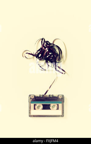 Audio cassette tape with subtracted out tape - Stock Photo