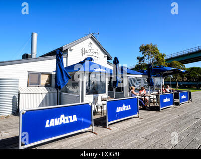 Hector's Café on the Wharf, Goolwa, South Australia - Stock Photo