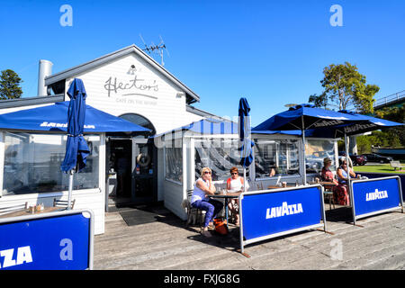Hector's Café on the Wharf, Goolwa, South Australia, SA, Australia - Stock Photo