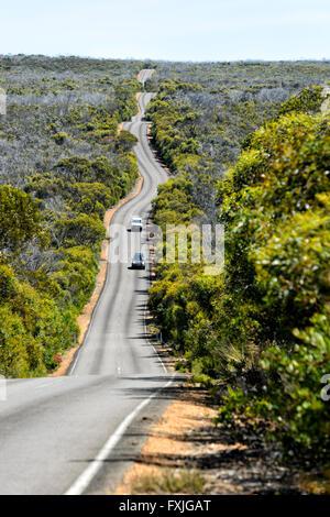 Road to Cape du Couedic, Kangaroo Island, South Australia, SA, Australia - Stock Photo