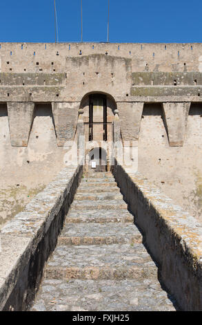 Spanish fortress in Porto Santo Stefano, Tuscany, Italy - Stock Photo