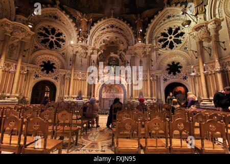 A small chapel within the main Basilica of the Montserrat monastery near Barcelona, Spain - Stock Photo
