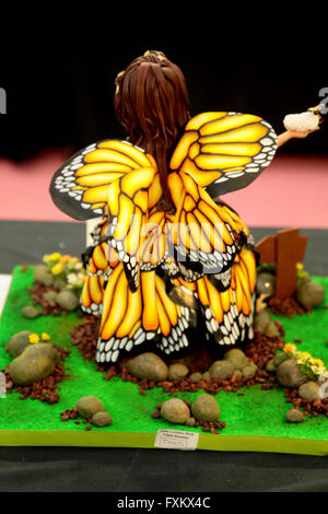 London Uk 16 April 2016 ,The world largest cake show held at London Alexander Palace saw some truly wonderful entrys - Stock Photo