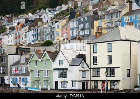 Houses overlooking the harbour at Dartmouth Devon UK - Stock Photo