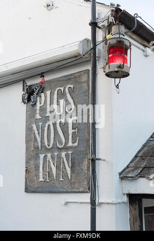 The Pigs Nose traditional 16th century Englsih pub in East Prawle Devon Uk - Stock Photo
