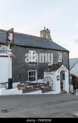 The Pigs Nose traditional 16th century English pub in East Prawle Devon Uk - Stock Photo
