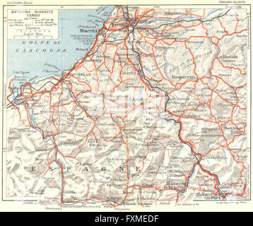 FRANCE Bayonne 1926 vintage map Stock Photo 102483157 Alamy