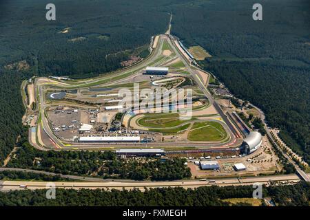 Aerial view, Hockenheimring, formerly Hockenheimring, Kurpfalzring, Motor Racing, DTM track, Germany, Europe, Aerial - Stock Photo