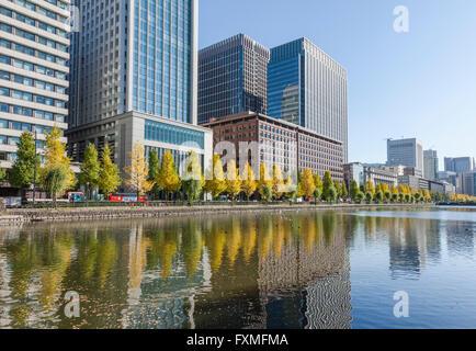 Marunouchi in Autumn, Tokyo, Japan - Stock Photo