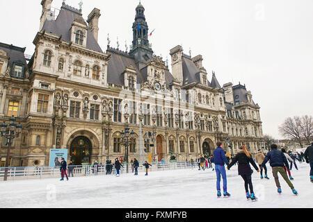 Paris City Hall, Paris, France - Stock Photo