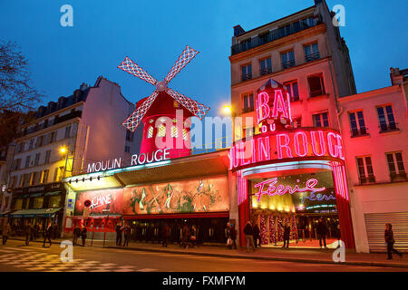 Moulin Rouge, Paris, France - Stock Photo
