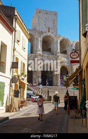 Arles Amphitheatre, Arles, France - Stock Photo