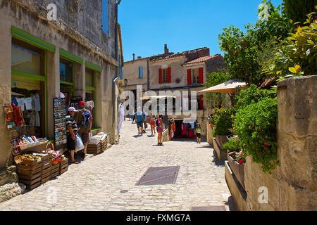 Street View of Les Baux de Provence, France - Stock Photo