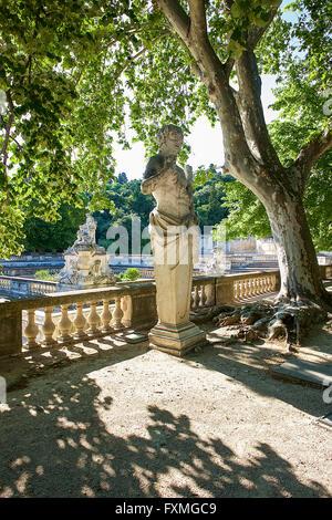 jardins de la fontaine nimes gard languedoc roussillon france stock photo royalty free image. Black Bedroom Furniture Sets. Home Design Ideas