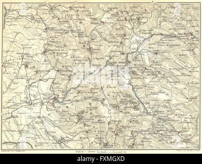 ITALY Tivoli 1925 vintage map Stock Photo 102485200 Alamy
