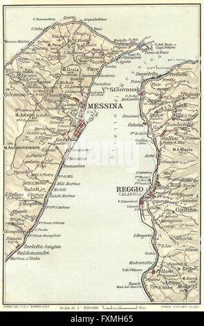 Map of Italy Reggio Calabria Stock Vector Art Illustration