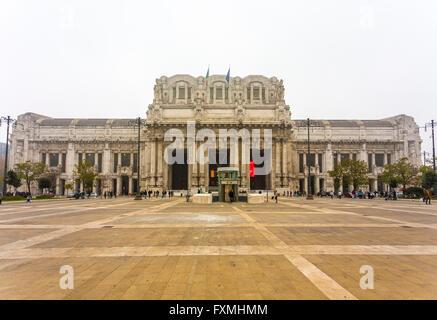 Milano Centrale Railway Station, Milan, Italy - Stock Photo