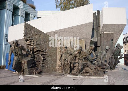 Warsaw Uprising Monument (Polish: Pomnik Powstania Warszawskiego) in Warsaw, Poland, dedicated to the Warsaw Uprising - Stock Photo