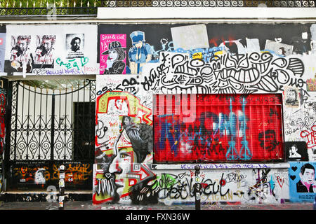 Serge Gainsbourg 's tagged house, 5 bis rue de Verneuil Paris - Stock Photo
