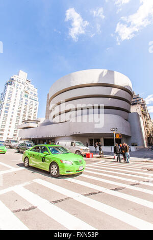 Solomon. R. Guggenheim Museum, 5th Avenue, Manhattan, New York City, United States of America. - Stock Photo