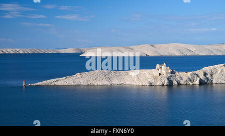 Ancient castle in the Pag island, Croatia - Stock Photo