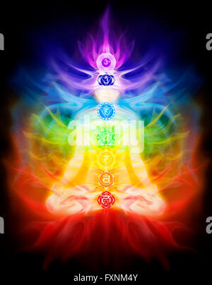 Seven Chakra Symbols Stock Photo 24543040 Alamy