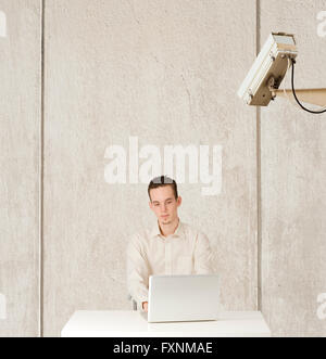 Conceptual image of internet privacy and computer surveillance - Stock Photo