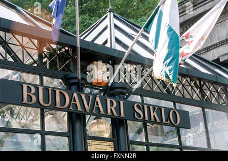 The Budapest Castle Hill Funicular or Budavári Sikló is a funicular railway in Budapest, Hungary. - Stock Photo