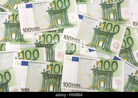 Many hundred euro notes - Stock Photo