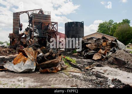 Scrap metal in junkyard - Stock Photo