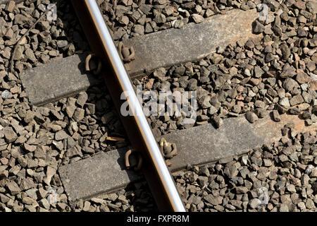 Railway line, aerial view - Stock Photo