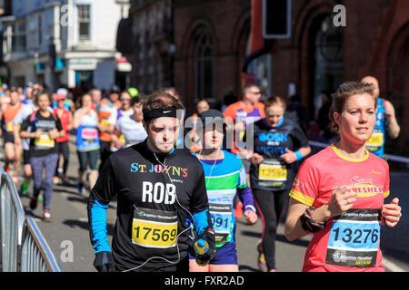 Brighton & Hove, Sussex, UK, 17 April 2016. The 2016 Brighton Marathon was the seventh running of the Marathon held - Stock Photo