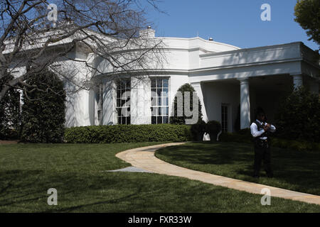 Washington, DC, USA. 17th Apr, 2016. The exterior of the Oval Office (the official office of the President of the - Stock Photo