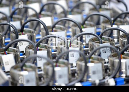 Stahnsdorf, Germany. 15th Apr, 2016. Sensor technology at Endress & Hauser in Stahnsdorf, Germany, 15 April 2016. - Stock Photo
