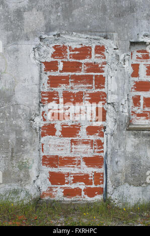 cracked brick wall with bricked up doorway · A bricked up doorway - Stock Photo & Bricked up doorway of an abandoned building Stock Photo Royalty ... Pezcame.Com