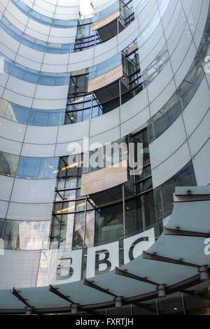 BBC Broadcasting House, Portland Place. London - Stock Photo