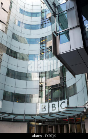 BBC Broadcasting House, Portland Place. London - Stock Photo