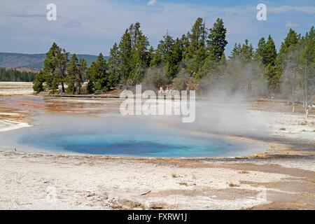 Celestine Pool at Fountain Paint Pot, Yellowstone National Park - Stock Photo
