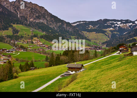 Alpbach in Alpbachtal, near Brixlegg, Tyrol, Austria - Stock Photo